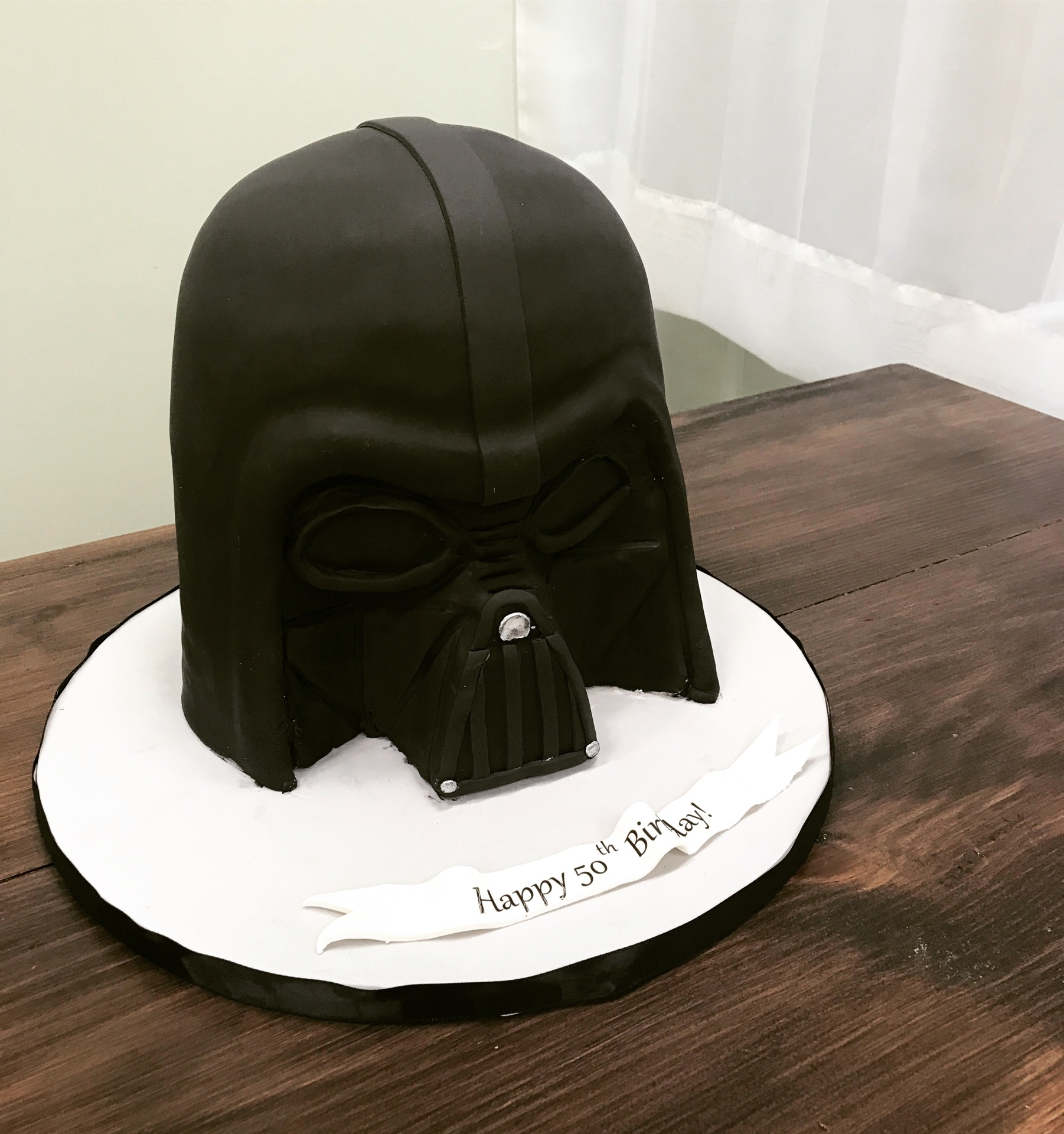 Custom Cakes NJ Darth Vader Star Wars Helmet Cake