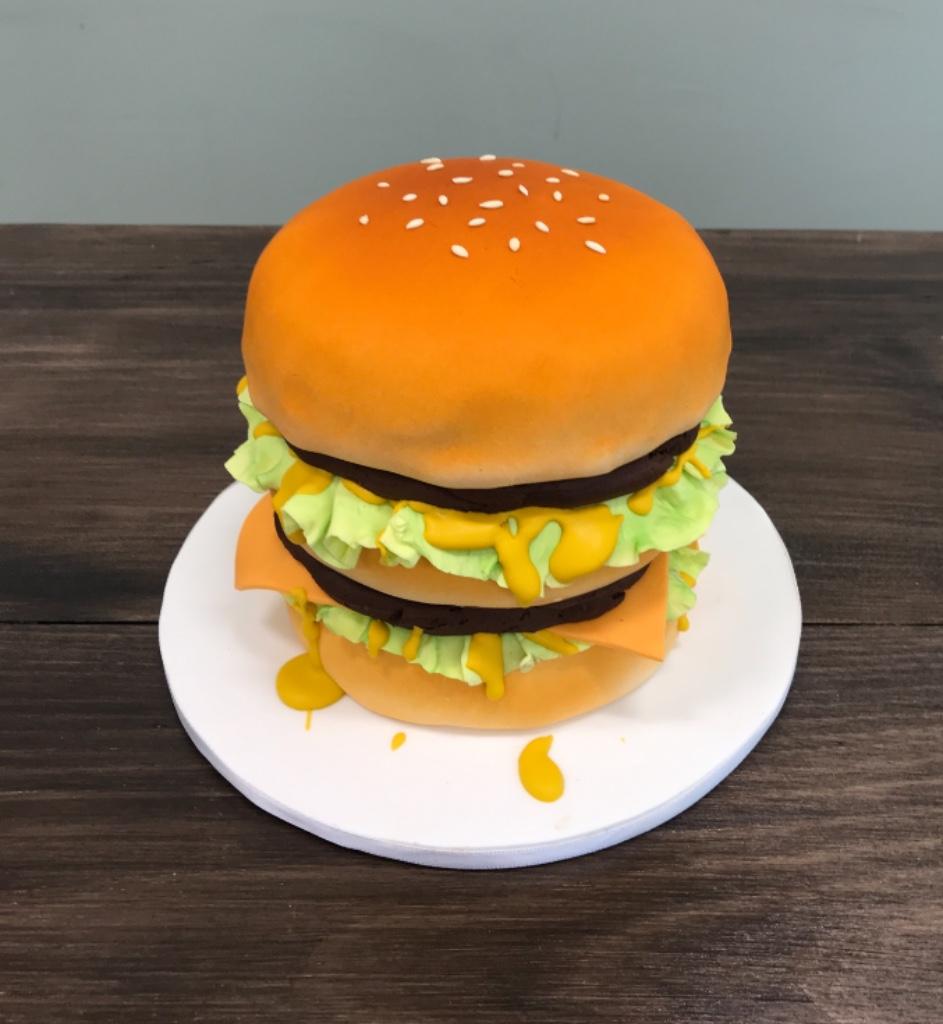 Custom Cakes NJ Hamburger Cake