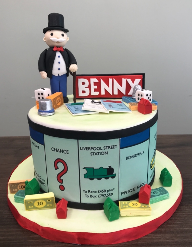 Custom Cakes NJ Fun Monopoly Themed cake