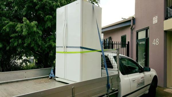 Double door french fridge moving