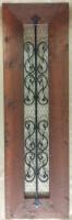 decorative cedar & iron shutter / accent
