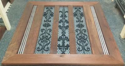 cedar & iron decorative accents