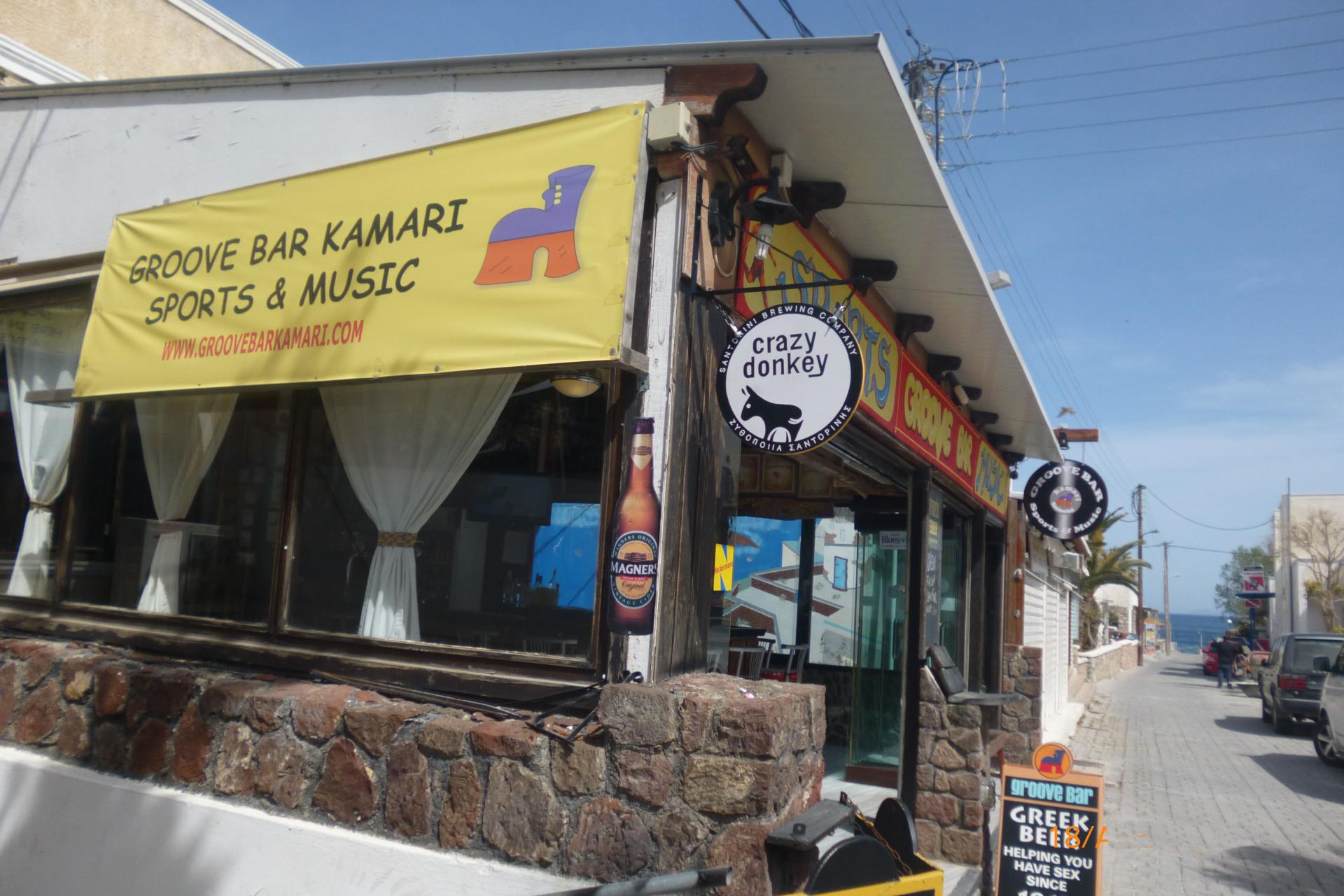 Groove Bar Kamari, Santorini - Sports & Music Bar