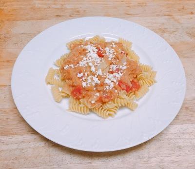 Pasta, Lentils, and Artichoke Hearts