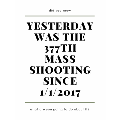 377 Mass Shootings This Year Alone