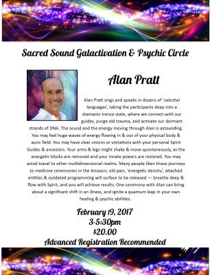 Sacred sound Galactivation and Psychic Circle