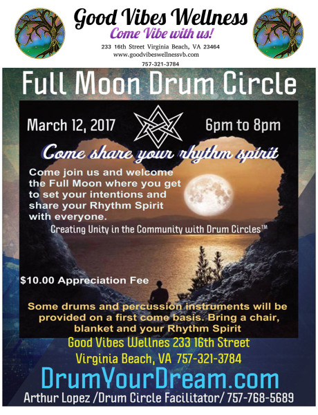 Full Moon Drum Circle with Arthur Lopez
