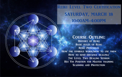 Reiki Level Two Class