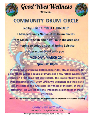 "Native Drum Circle with Becki ""Red Thunder"""