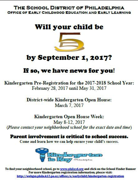Kindergarten Registration Deadline!