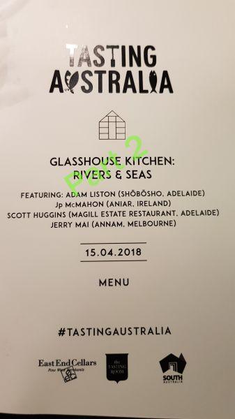 Part 2 Tasting Australia - Glasshouse Kitchen - Rivers & Seas - Still Jealous? :-P