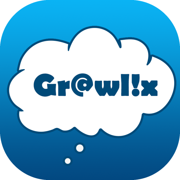 Grawlix chat story digital comic app icon