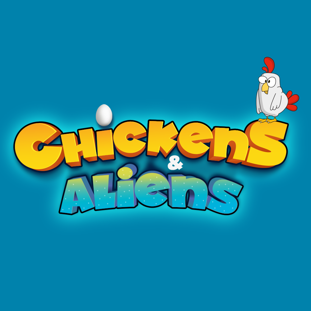 Chickens & Aliens Mobile Game for IOS & Android