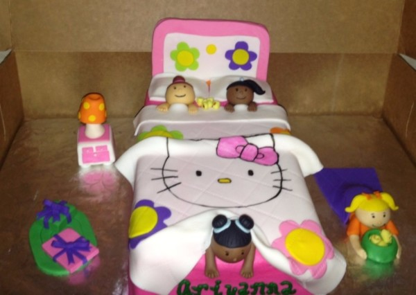 3D Sleepover Cake