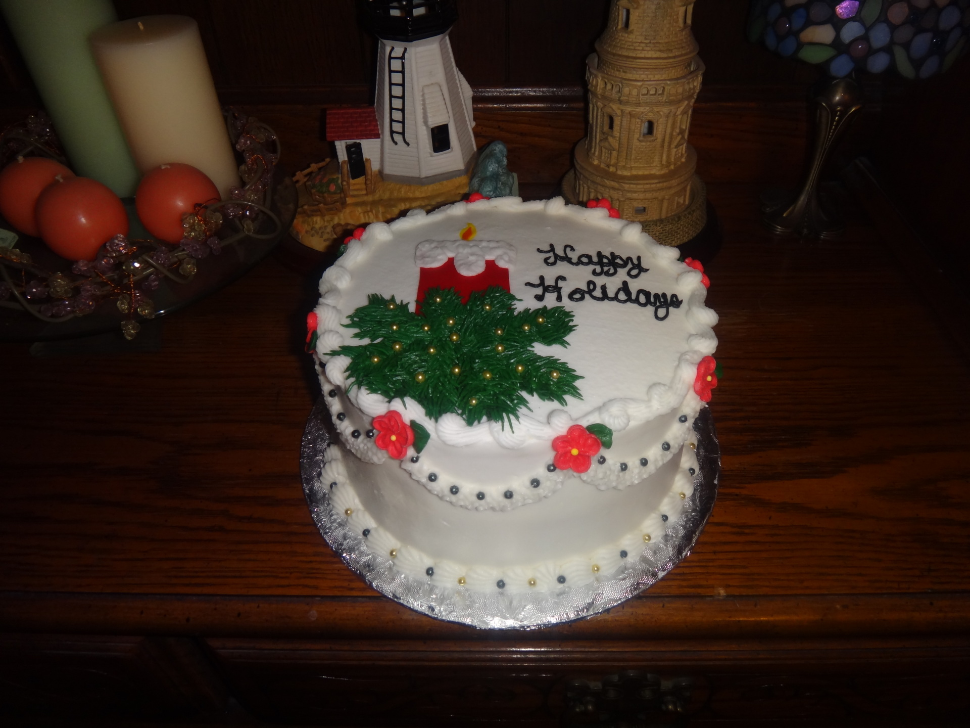 Holiday Candle Cake