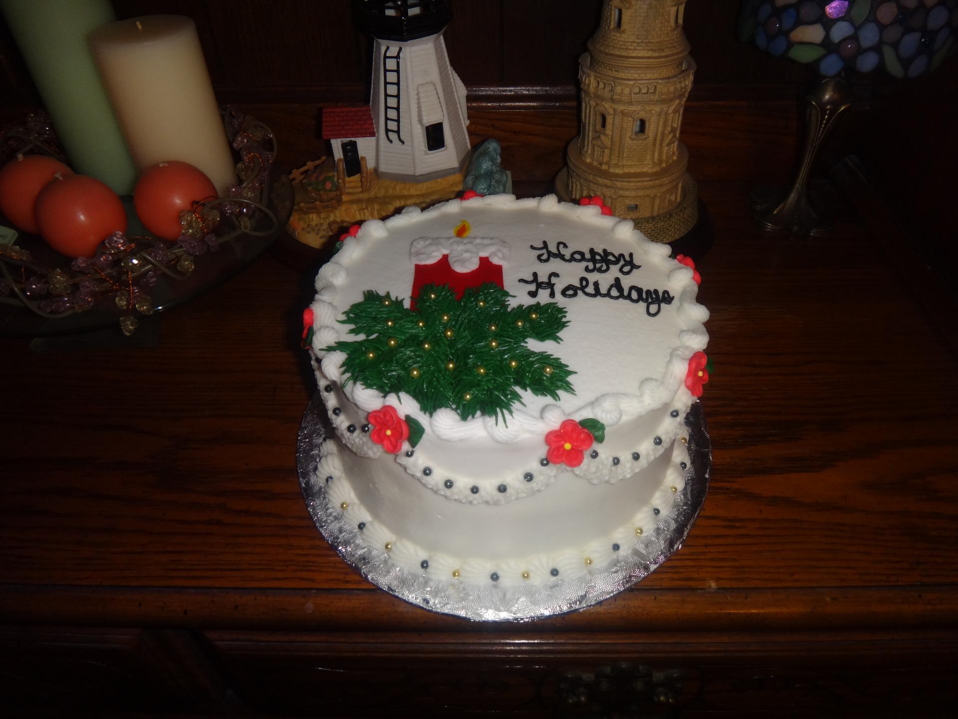 Holiday Candle Cake