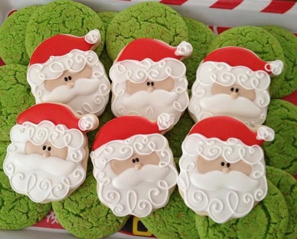 Santa Cookie Face