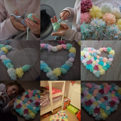 How to Make a Pompom Rug
