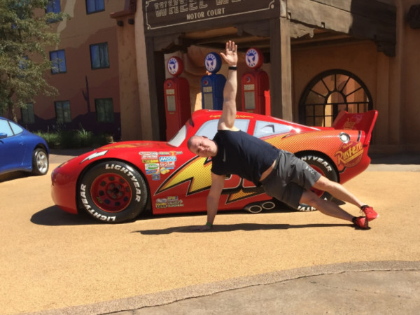 Planking  with Lightning McQueen