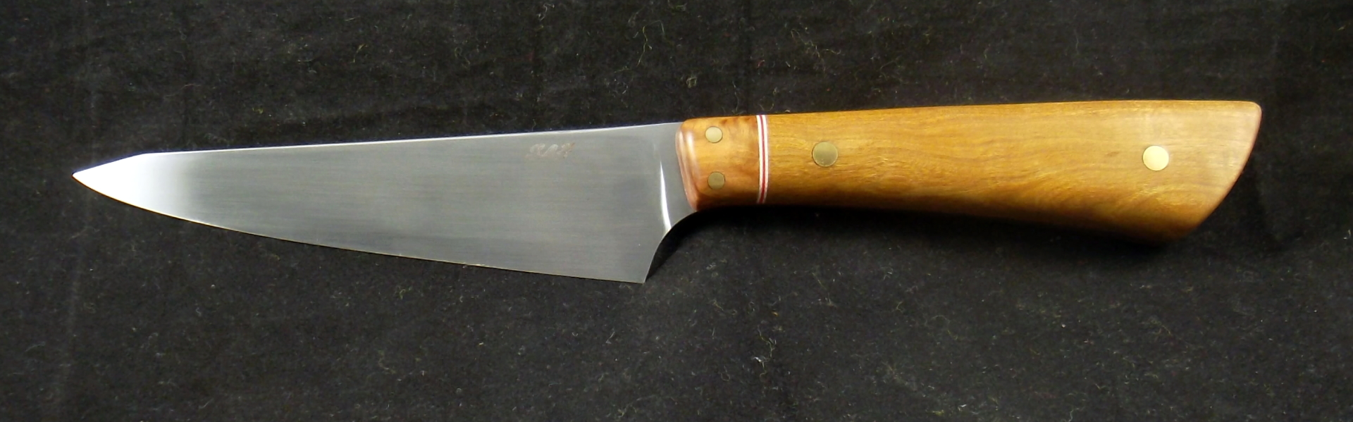 Aussie Knives, 12C27 boning / utility knife with sandalwood and red mallee. SLH Blades, Stacy Hall