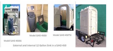 Sani Jon, Heavy Duty, Portable Toilet, Portable Sink