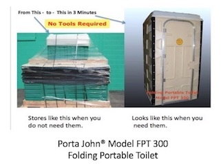 Folding, Disaster Relief, Stores Folded, Portable Toilet,