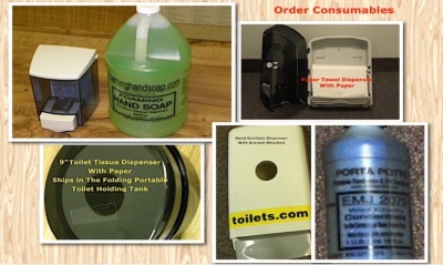consumables, deodorizer, hand sanitizer, tissue dispensers, soap dispensers