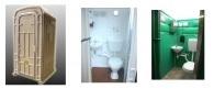 cost efficient, portable restroom, ceramic fixtures, flush toilet,