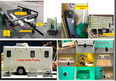 self contained, toilet, trailer,