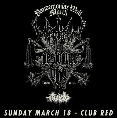 WATAIN WITH DESTROYER 666 AND NEXUL AT CLUB RED IN MESA, ARIZONA 3/18/18