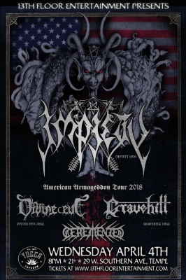 IMPIETY WITH DIVINE EVE AND GRAVEHILL AT JOE'S GROTTO IN TEMPE, ARIZONA 4/4/18