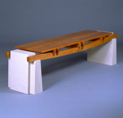 Cherry Limestone Bench