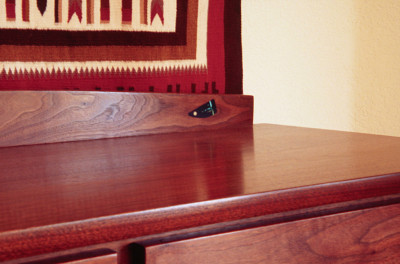 Detail Walnut Casework Drawers