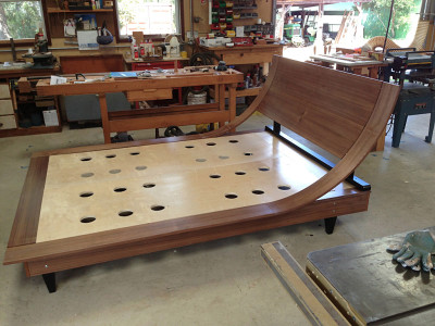 Bed Curve Walnut Poplar