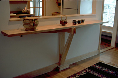 Maple Kitchen Counter Culinary Altar