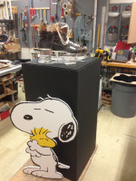 Snoopy, Charles Shultz, Display, Museum Exhibit.