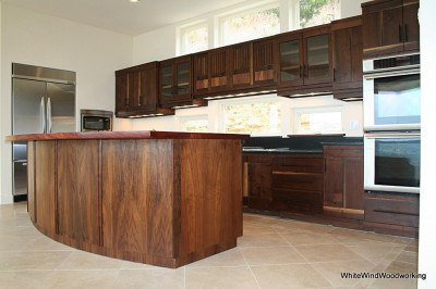 Walnut,cabinets,kitchen
