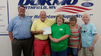 Thanks to Dokmo Ford!  We raised $4140 from our Drive for Your Community fundraiser in May
