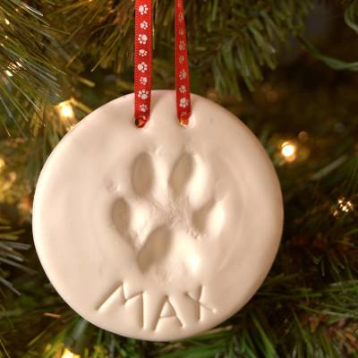 Paw Print Ornaments at Chuck & Don's Pet Store