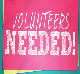 Volunteers Needed October 21