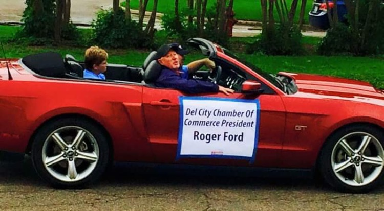 Riding in the parade as president of the chamber