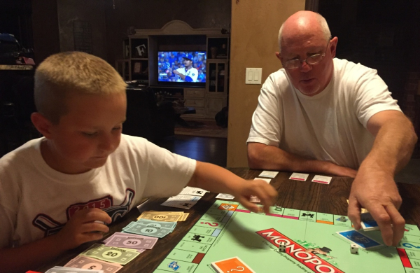 Game night with the boy