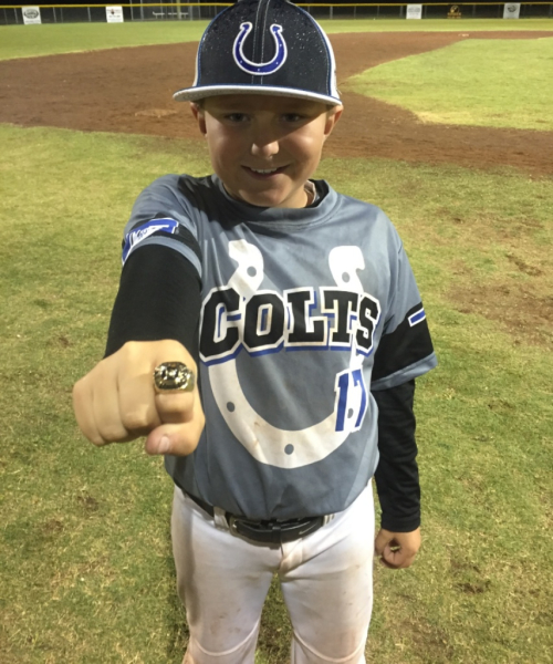 AJ taking home a ring after a long weekend of baseball