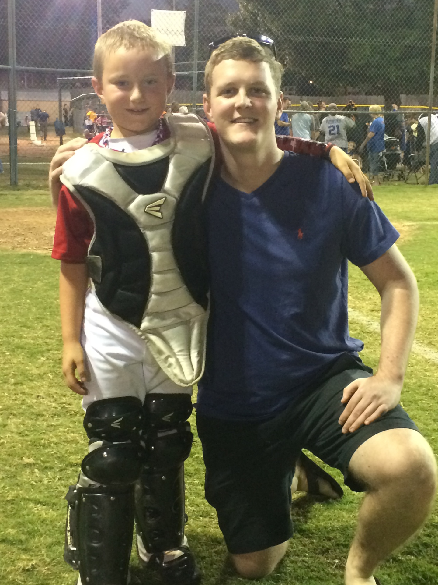 Cody, airman, came to watch AJ play some ball