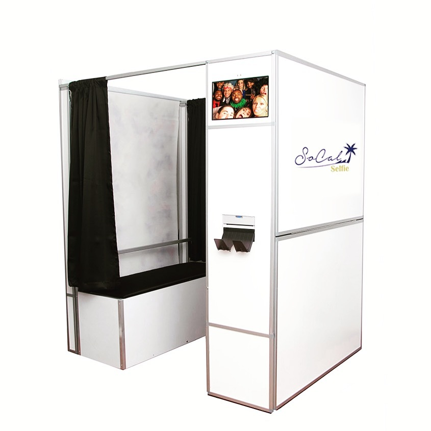 SoCal Selfie photo booth rental, printer and professional lighting