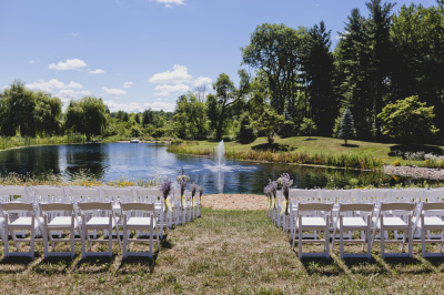 Ceremony by  the pond