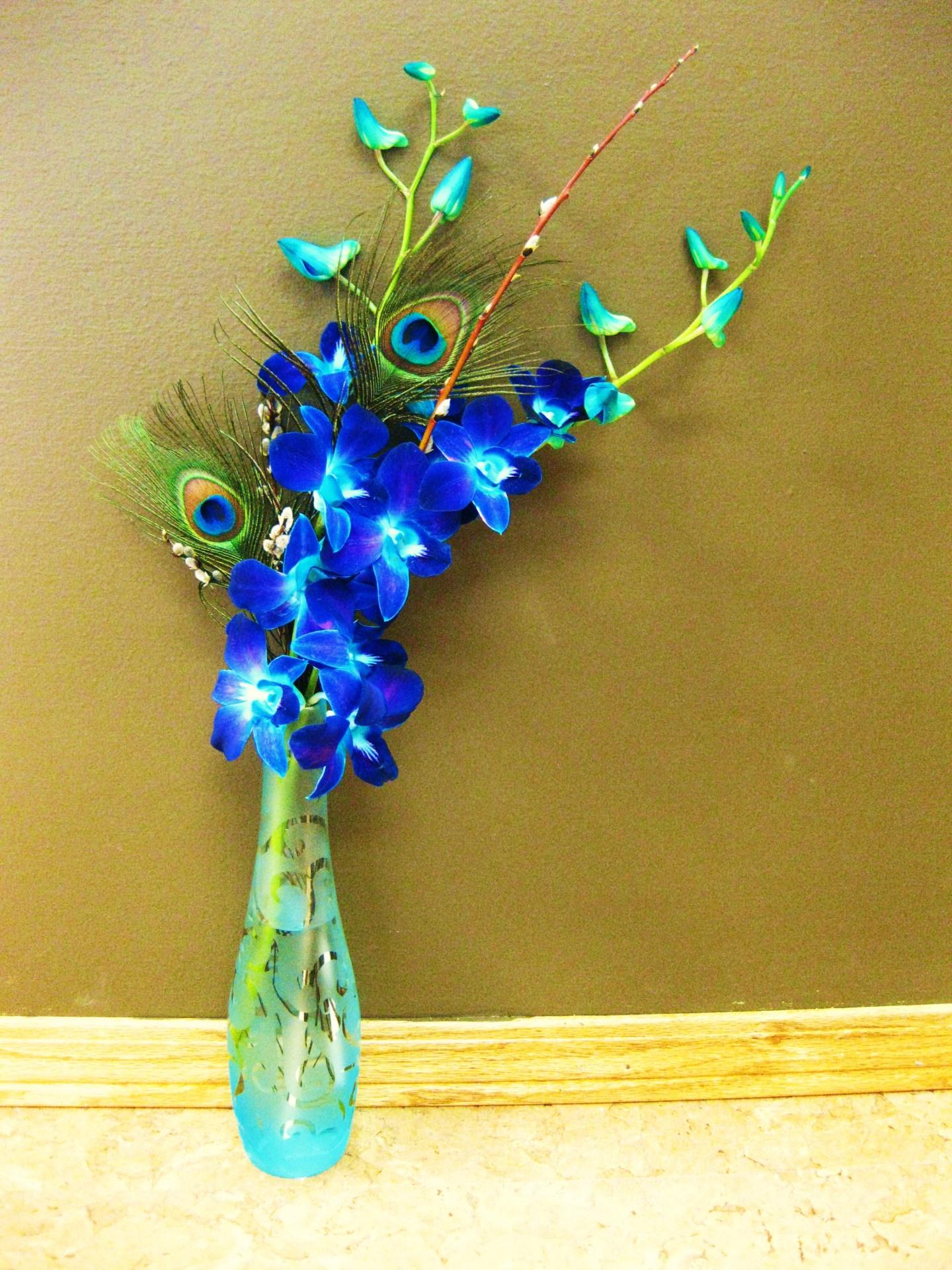 orchids, flowers, lumsden, regina, florist, vase, bouquet, blue