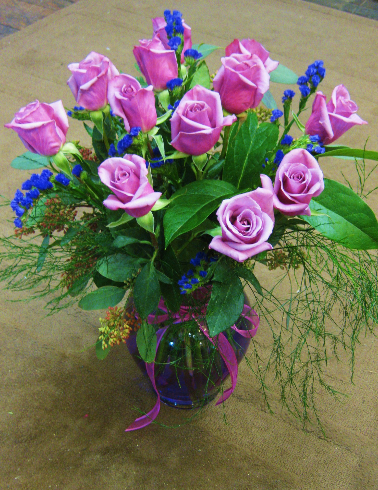 valentine, roses, purple, traditional