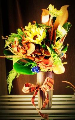 Mixed Autumn Vase