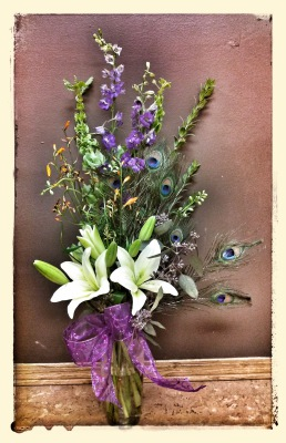 lilies, wildflower, flowers, lumsden, regina, florist, vase, bouquet, purple, white